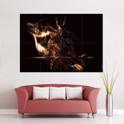 Dark Souls III The Fire Knight  Block Giant Wall Art Poster (P-2236)