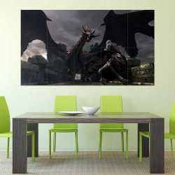 Dark Souls III Fire Dragon Block Giant Wall Art Poster (P-2246)