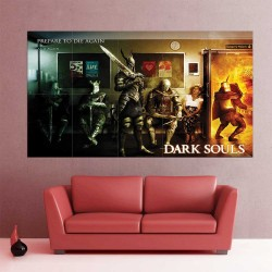 Dark Souls III Prepare to Die Again and Again Block Giant Wall Art Poster (P-2247)