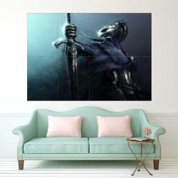 Dark Souls III Wolf Knight  Block Giant Wall Art Poster (P-2248)
