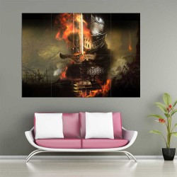 Dark Souls II Knight  Block Giant Wall Art Poster (P-2250)