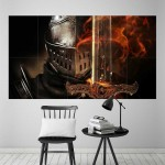 Dark Souls III Armored Knight Block Giant Wall Art Poster