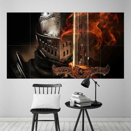 Dark Souls III Armored Knight Block Giant Wall Art Poster