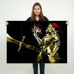 Dark Souls III Golden Knight Block Giant Wall Art Poster