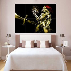 Dark Souls III Golden Knight  Block Giant Wall Art Poster (P-2252)
