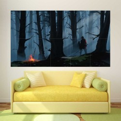 Dark Souls III Forest  Block Giant Wall Art Poster (P-2255)