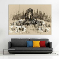 Dark Souls III Artorias Tomb  Block Giant Wall Art Poster (P-2257)