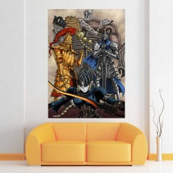 Dark Souls III Four Knights of Gwyn Block Giant Wall Art Poster (P-2259)