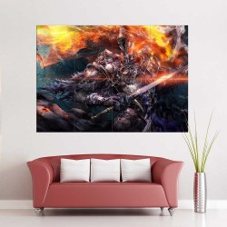 Dark Souls II Fume Knight Block Giant Wall Art Poster (P-2261)