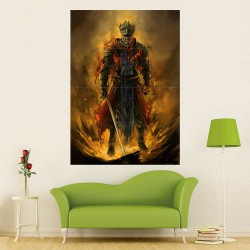 Dark Souls III Red Knight Block Giant Wall Art Poster (P-2263)