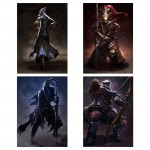 Dark Souls III Four Knights of Gwyn Block Giant Wall Art Poster