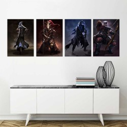 Dark Souls III Four Knights of Gwyn Block Giant Wall Art Poster (P-2265)