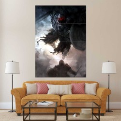 Dark Souls II Dark The Pursuer Block Giant Wall Art Poster (P-2270)