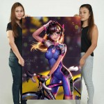 Overwatch D.Va Bicycle Racing Block Giant Wall Art Poster