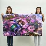 Overwatch D.Va Game Girl Block Giant Wall Art Poster