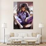 Overwatch D.Va Sexy Girl Block Giant Wall Art Poster