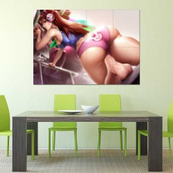 Overwatch D.Va Underware  Block Giant Wall Art Poster (P-2282)