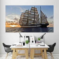 Sailing Ship  Block Giant Wall Art Poster (P-2291)