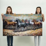 8 Horse  Block Giant Wall Art Poster