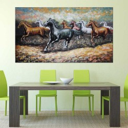 8 Horse   Block Giant Wall Art Poster (P-2292)