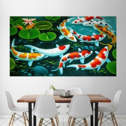 Koi Craps Fish  Block Giant Wall Art Poster (P-2293)