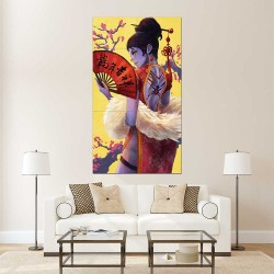 Overwatch Widowmaker Cheongsam  Wand-Kunstdruck Riesenposter (P-2301)