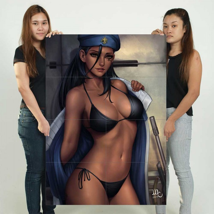 Giant bikini posters