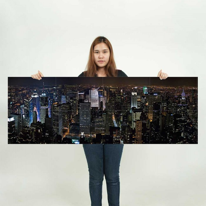 new york city panorama wand kunstdruck riesenposter. Black Bedroom Furniture Sets. Home Design Ideas
