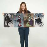 โปสเตอร์ ขนาดใหญ่ Batman Harley Quinn Joker Penquin Japan Artprint