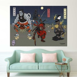 Deadpool Japan Art Block Giant Wall Art Poster (P-2383)