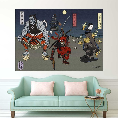 Deadpool Japan Art Block Giant Wall Art Poster