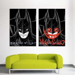 Batman Dark Knight Why so serous  Block Giant Wall Art Poster (P-2384)