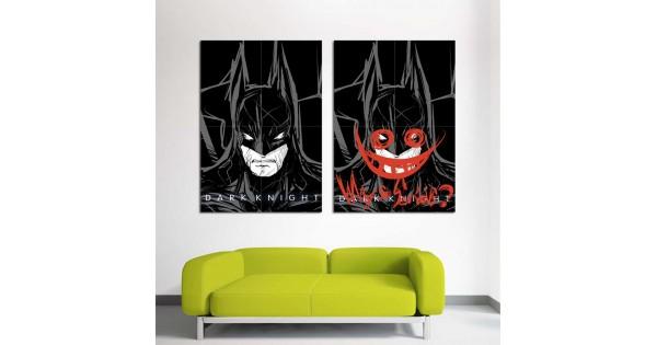 batman dark knight why so serous wand kunstdruck riesenposter. Black Bedroom Furniture Sets. Home Design Ideas