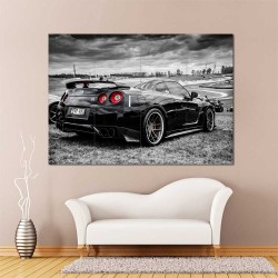 4x2P Nissan Skyline GTR R35 Drift Car  Block Giant Wall Art Poster (P-2398)