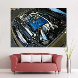 โปสเตอร์ ขนาดใหญ่  Nissan skyline engine Bay  (P-2399)