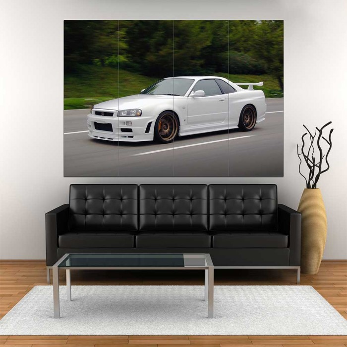 Large Nissan Skyline Engine Bay Wall Poster Art Picture Print