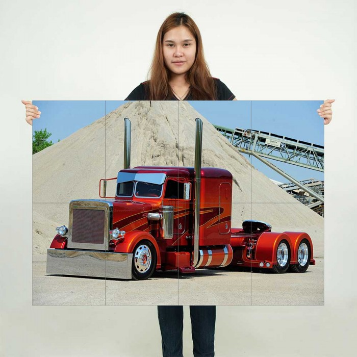 Large Peterbilt Truck Lorry Wall Poster Art Picture Print