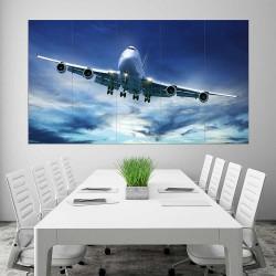 BOEING 747 Jumbo Plane  Block Giant Wall Art Poster (P-2406)