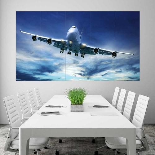 BOEING 747 Jumbo Plane Block Giant Wall Art Poster