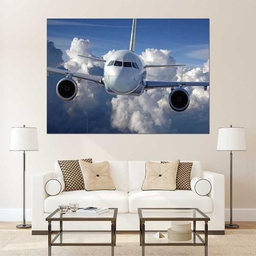 Boeing 757 Jumbo Aeroplane Block Giant Wall Art Poster