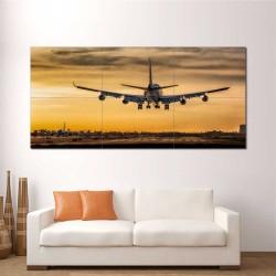 Boeing 747 Jumbo Plane Landing Block Giant Wall Art Poster (P-2408)