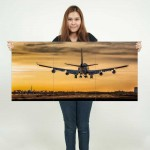 Boeing 747 Jumbo Plane Landing Block Giant Wall Art Poster