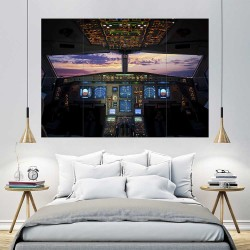 Boeing Airbus Cockpit Flight Deck  Block Giant Wall Art Poster (P-2409)
