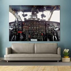 Aircraf Airplane Cockpit Flight Deck  Block Giant Wall Art Poster (P-2413)