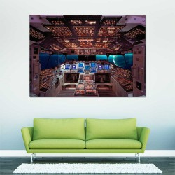 Columbia Space Shuttle Cockpit  Block Giant Wall Art Poster (P-2414)