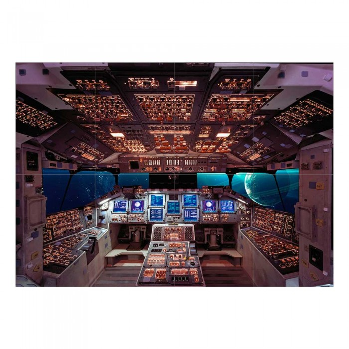 Columbia Space Shuttle Cockpit Block Giant Wall Art Poster