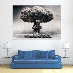NUC Mushroom Dust cloud Nuclear Atomic Bomb  Wand-Kunstdruck Riesenposter (P-2420)