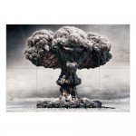 NUC Mushroom Dust cloud Nuclear Atomic Bomb Block Giant Wall Art Poster