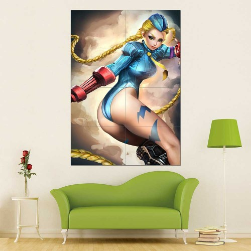 Street Fighter Cammy White  Block Giant Wall Art Poster
