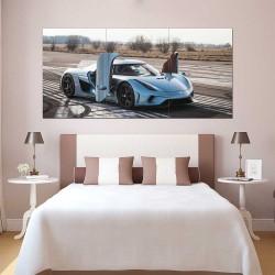 Koenigsegg Agera R Supercar Block Giant Wall Art Poster (P-2461)